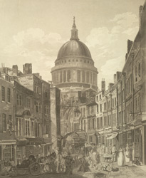 View of St Pauls from St Martins Le Grand